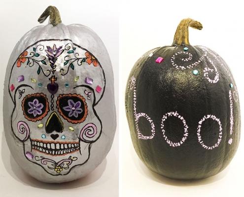 halloween sculls i græskar á la Mexico