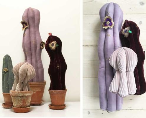 Kaktusser i velour og fløjl DIY